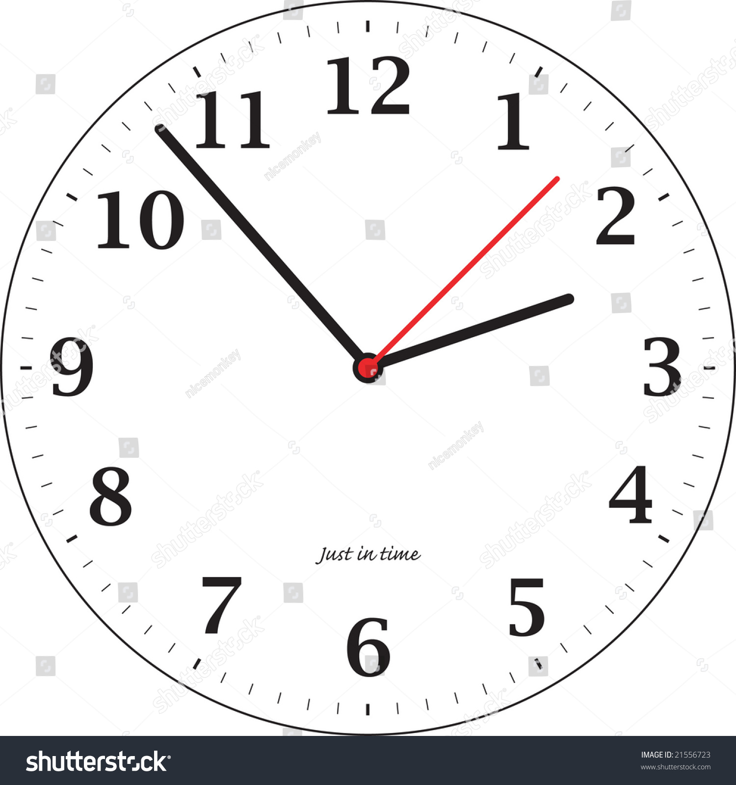 Worksheet Clock For Teaching a simple illustrated clock for teaching the time stock photo save to lightbox