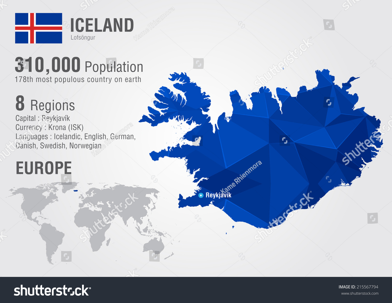 Iceland island world map pixel diamond stock vector 215567794 iceland island world map with a pixel diamond texture world geography gumiabroncs Images