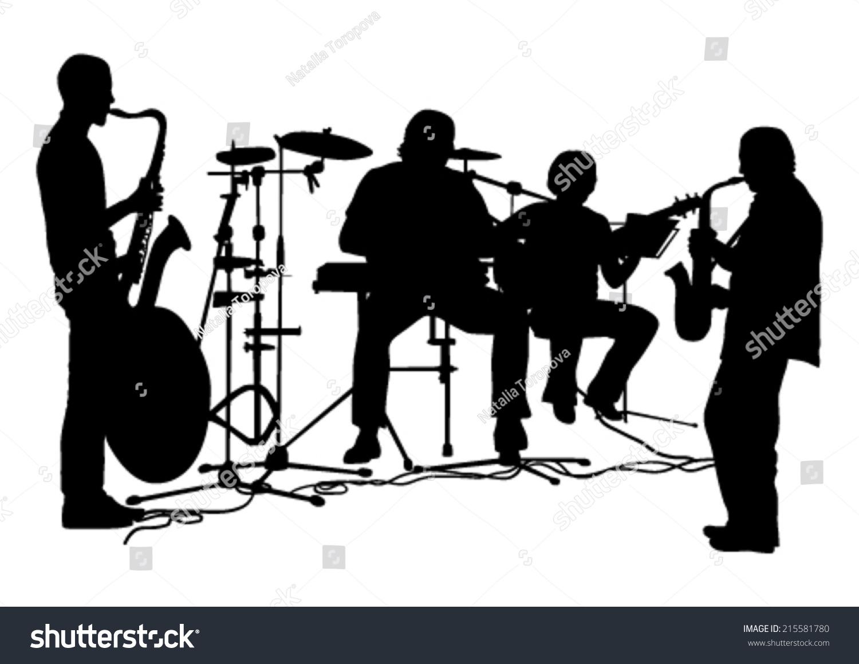 musicians silhouettes set ez canvas