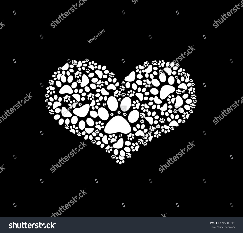Illustration paw print heart stock illustration 215609719 illustration of paw print with heart buycottarizona