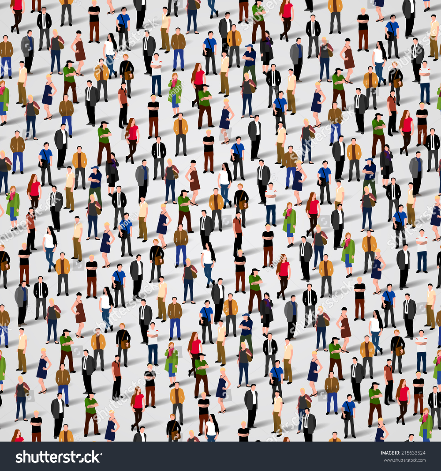 Large Group People Vector Seamless Background Stock Vector 215633524 - Shutterstock