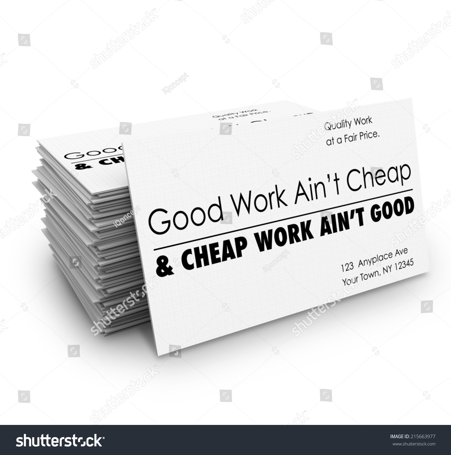 Fresh stock of where to get cheap business cards business cards good work aint cheap words on stock illustration good work aint cheap words on stock illustration from where to get cheap business cards magicingreecefo Gallery