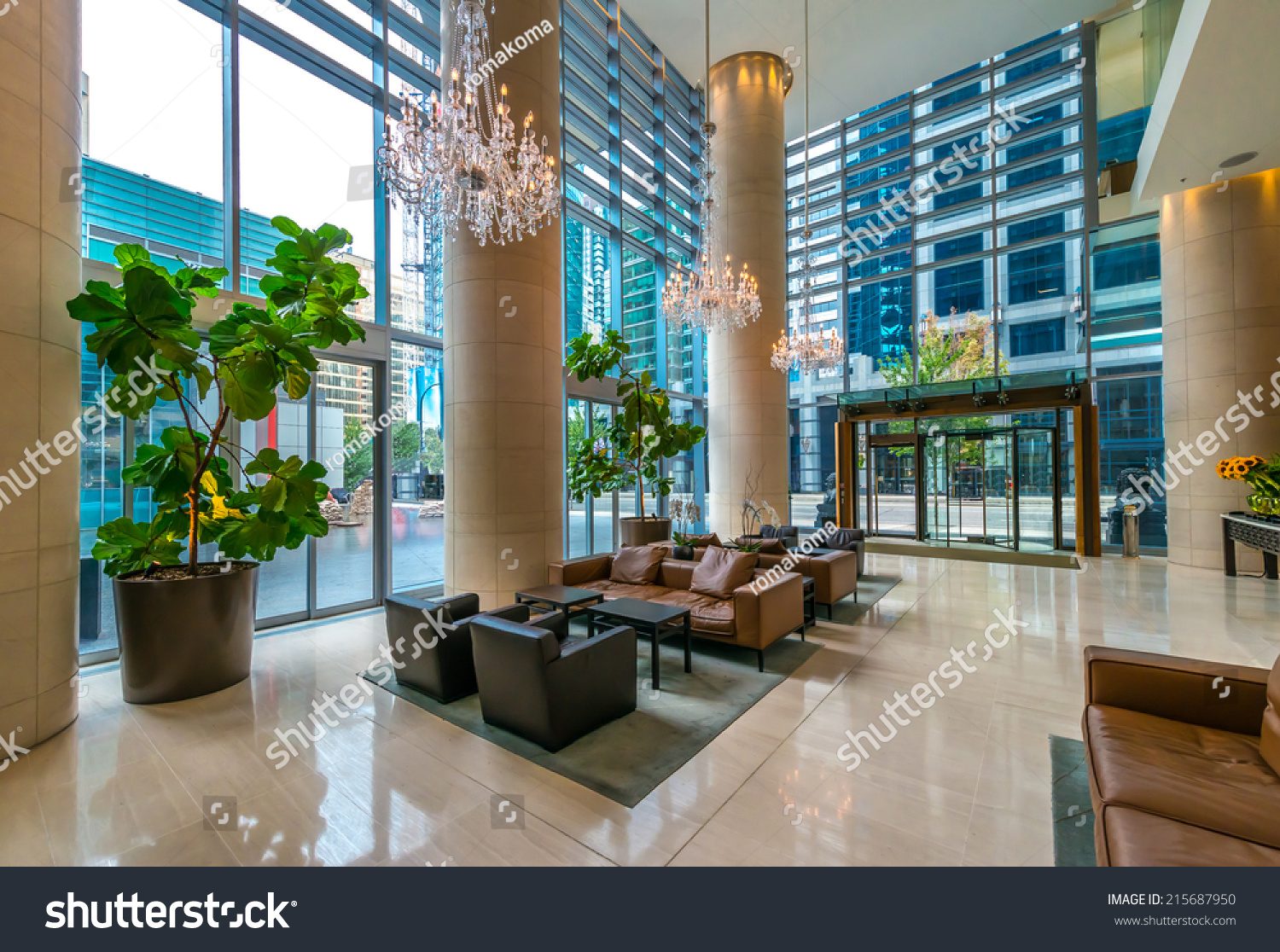 Modern Lobby, Hallway, Plaza Of The Luxury Hotel, Shopping Mall, Business Center In Vancouver