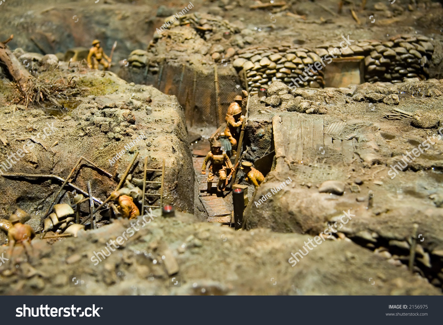 Miniature of world war i trench warfare taken at the war museum of