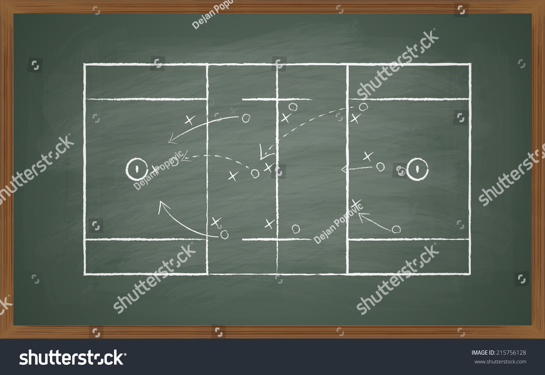 image of lacrosse field on green board. Transparency effects used ...