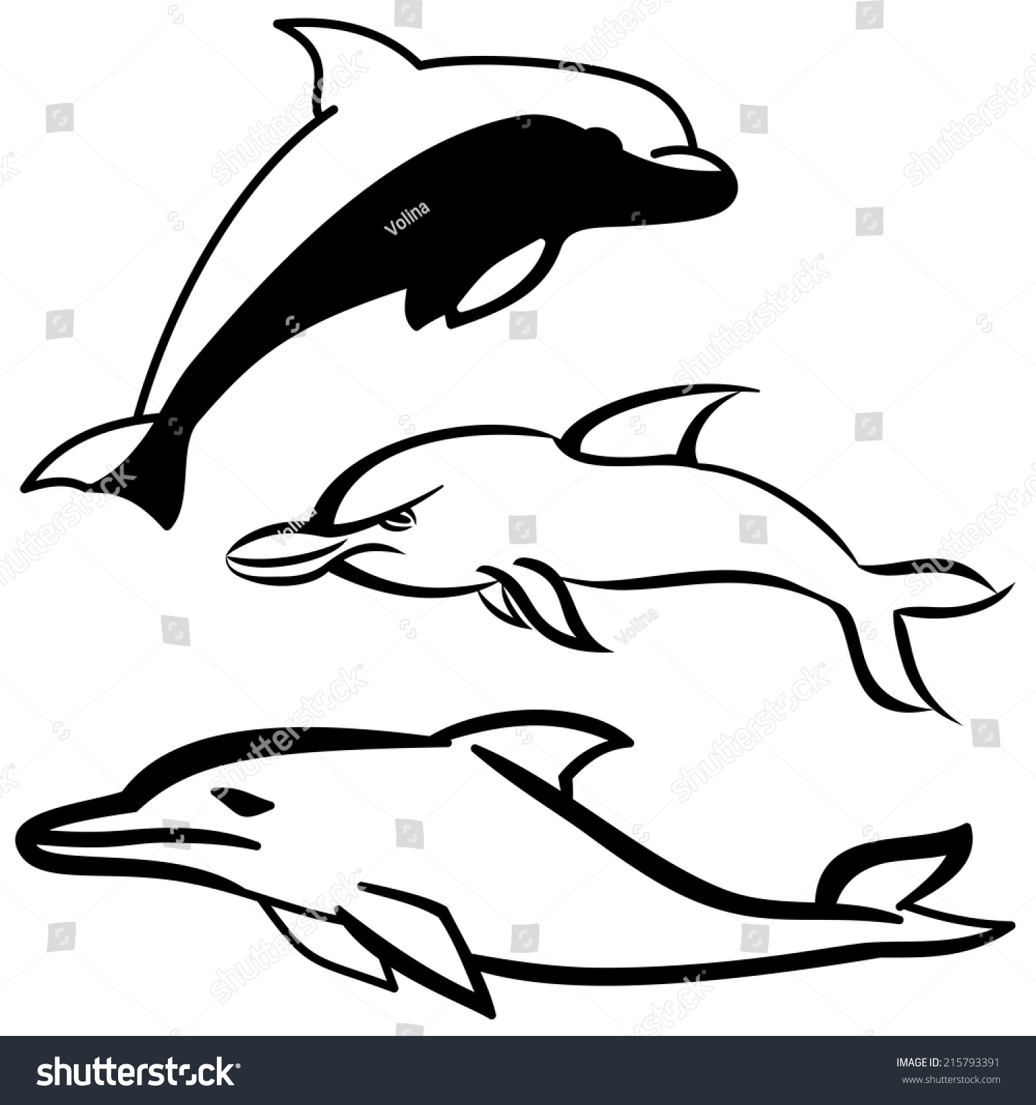 Uncategorized Simple Dolphin Drawing simple black white dolphin cartoon icon stock vector 215793391 and icon