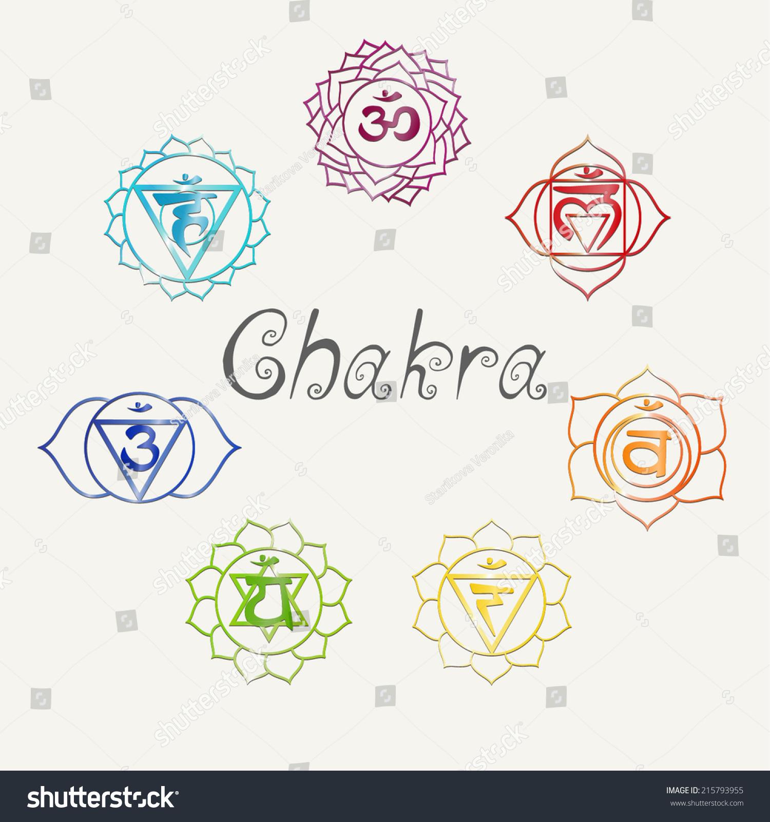 Yoga Energy Centers Chakra Stock Vector 215793955