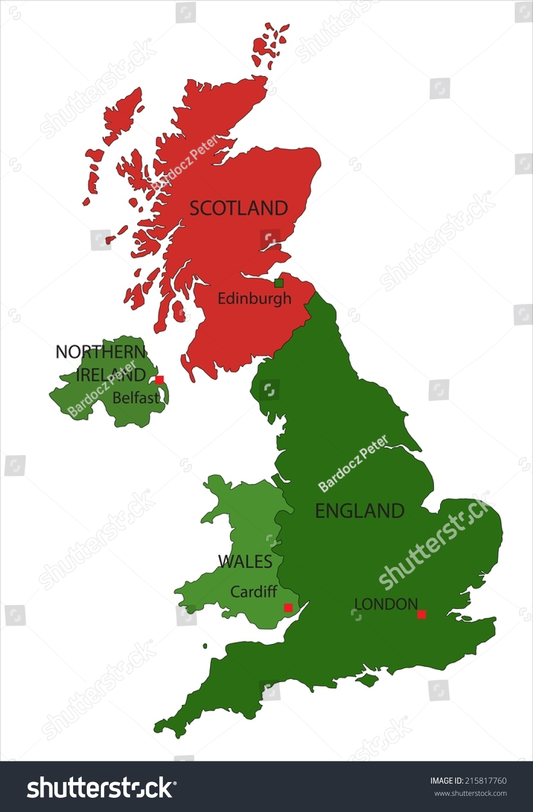 Map Of Uk And Scotland.Highly Detailed United Kingdom Scotland Map Stock Vector Royalty