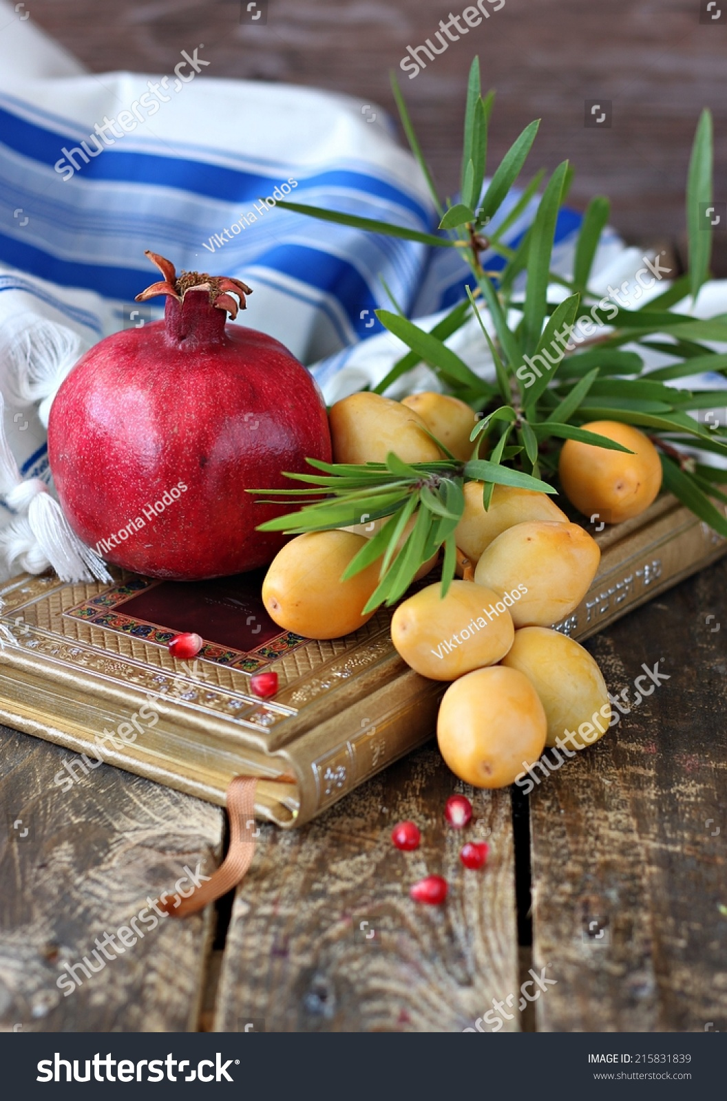 Pomegranate And - Traditional Food Of Jewish New Year ...