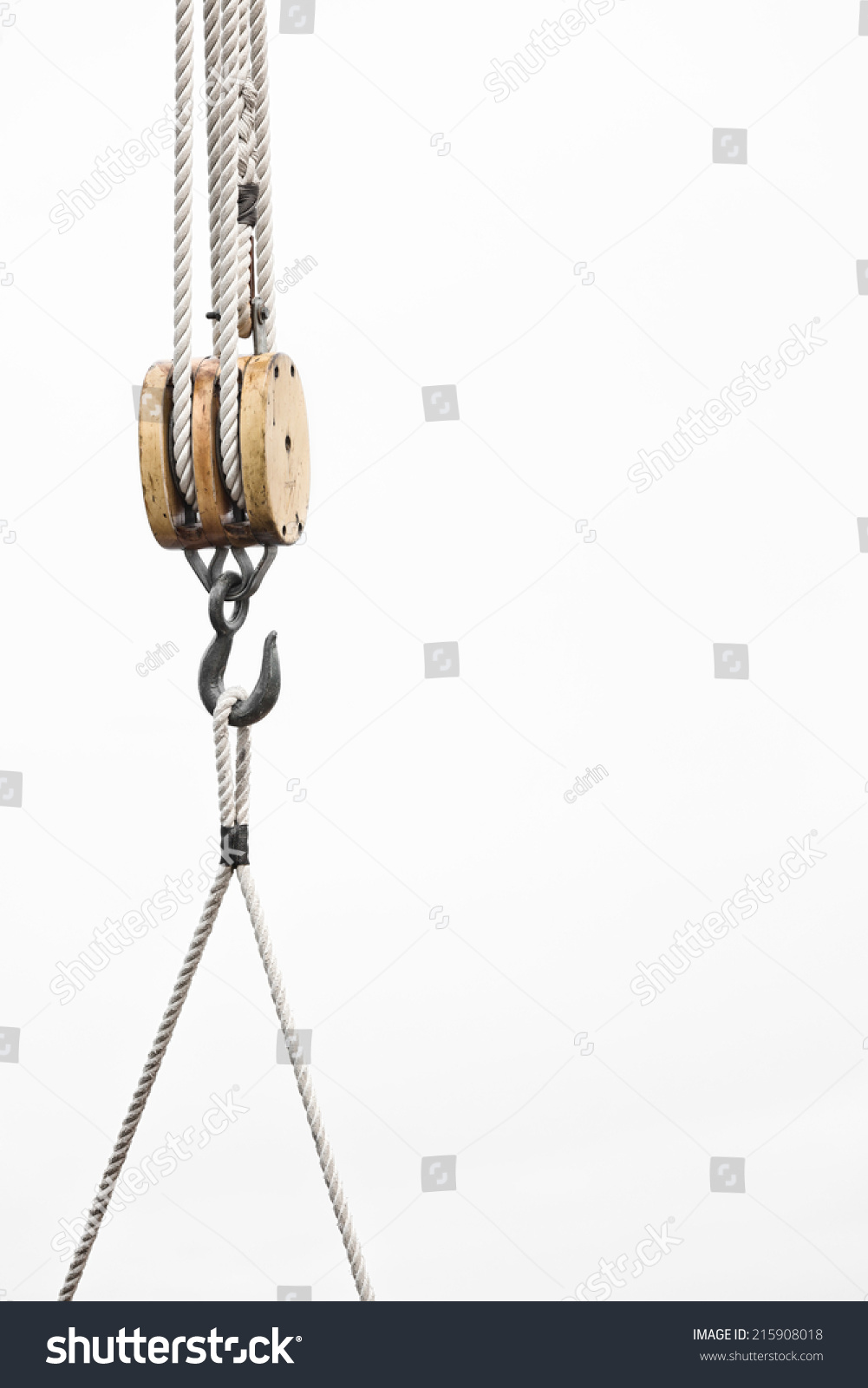 Sailboat Detail Close Pulley Rope Hook Stock Photo (Edit Now