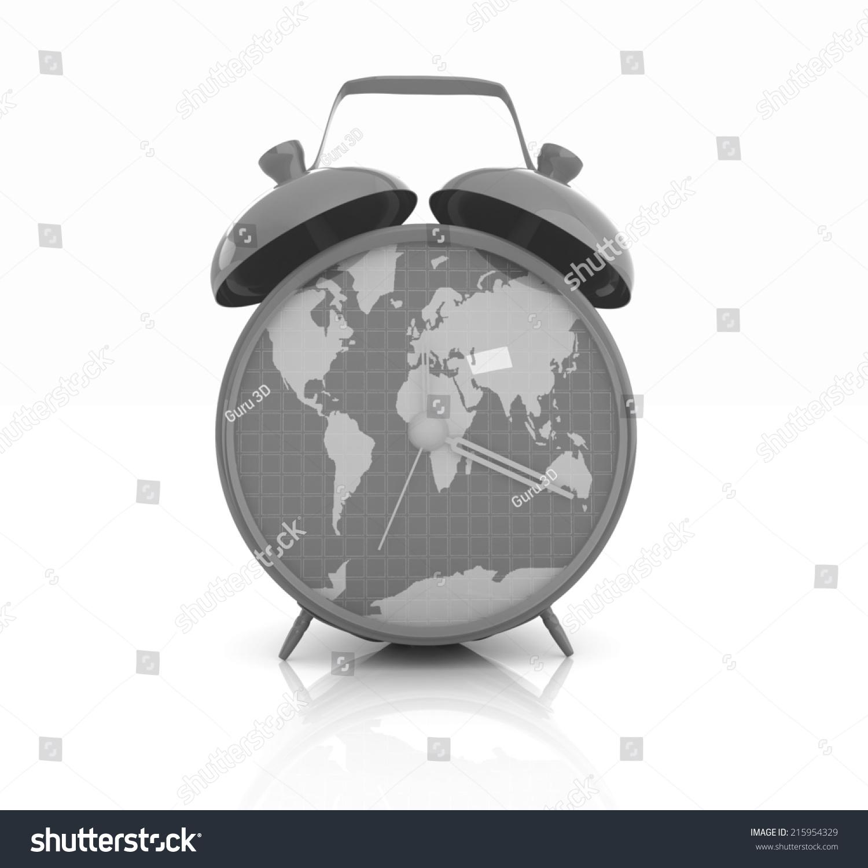 Clock world map stock illustration 215954329 shutterstock clock of world map gumiabroncs Choice Image