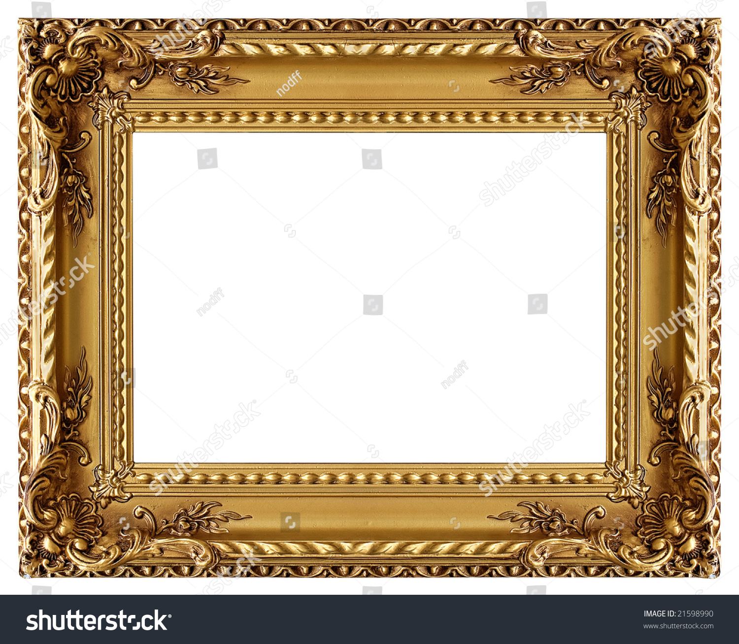 Picture Gold Frame Decorative Pattern Stock Photo 21598990