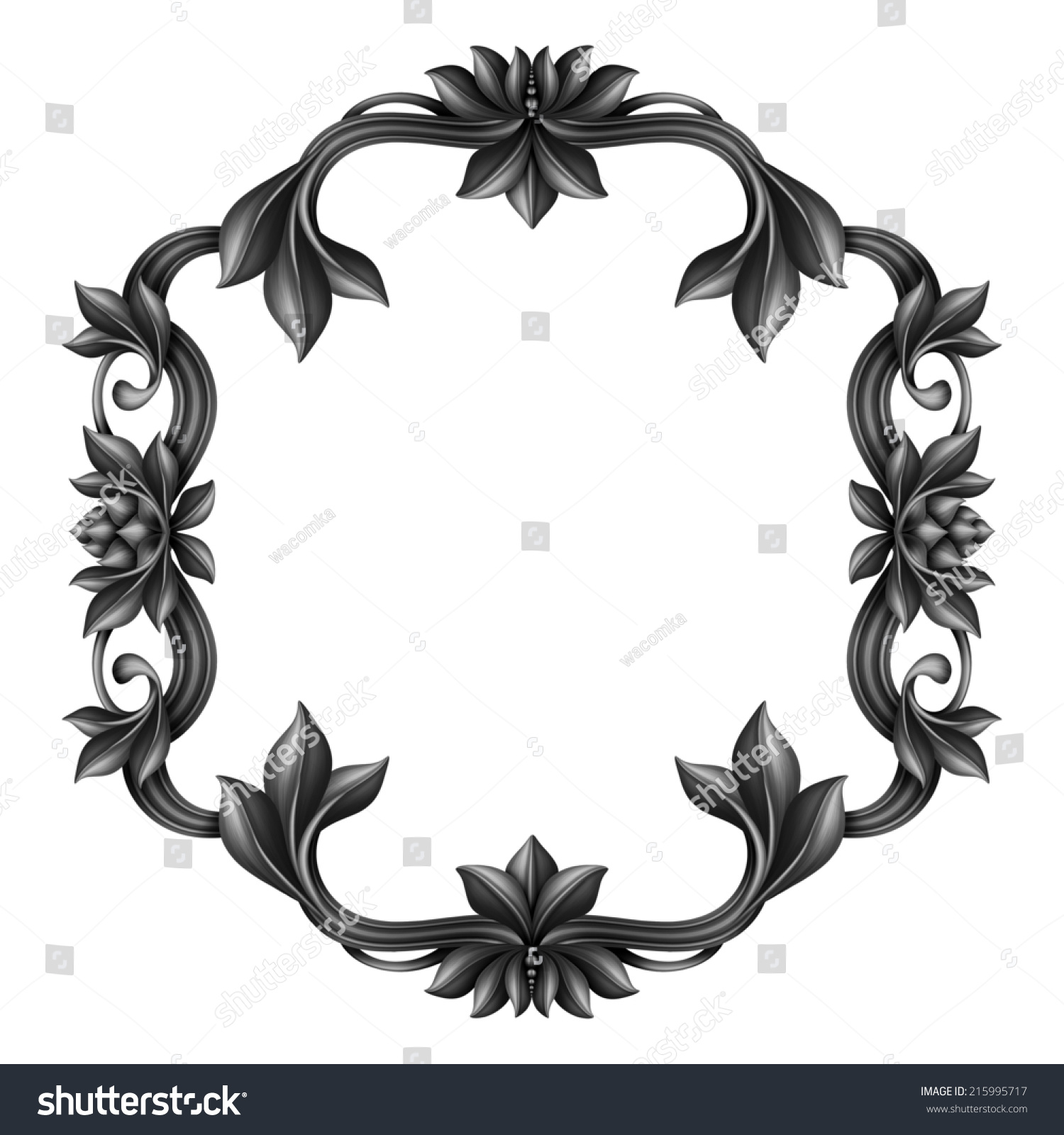 ... Blank Label Template Decorative Black Frame Blank Dramatic Label  Template Classical ...