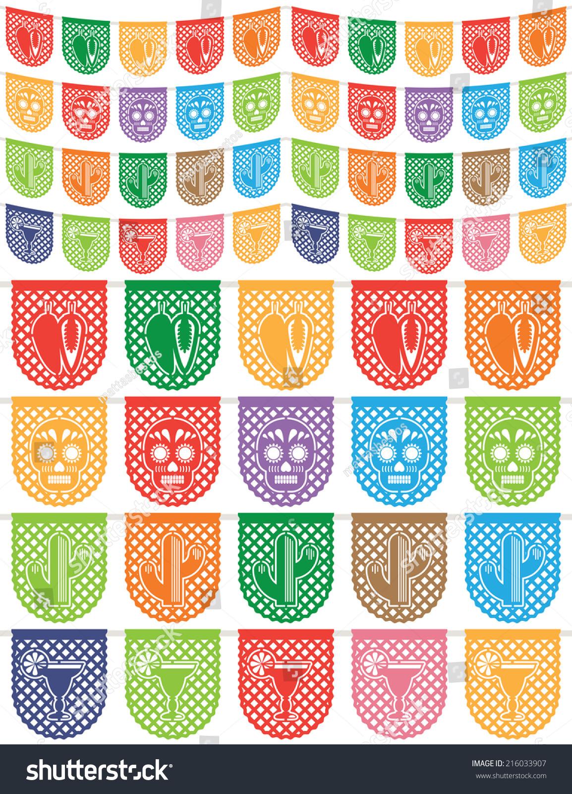 how to make papel picado with tissue paper