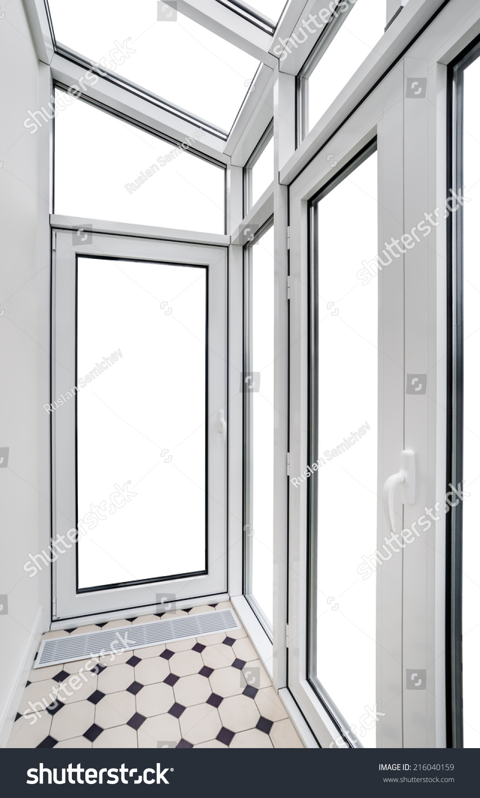 Plastic window stock photo 216040159 shutterstock for Window plastic