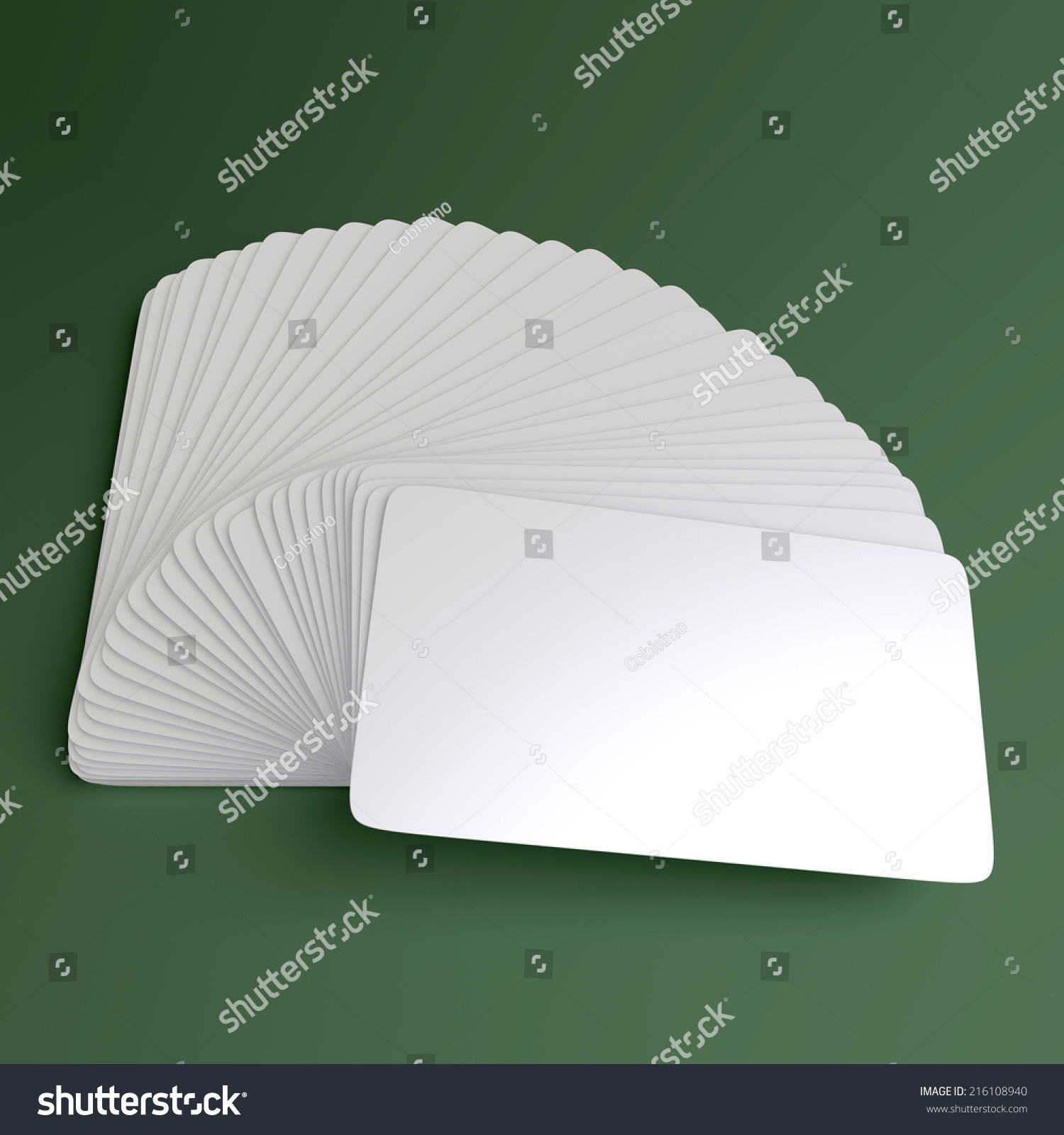 Business cards blank mock fan stock illustration 216108940 business cards blank mock up fan reheart Image collections