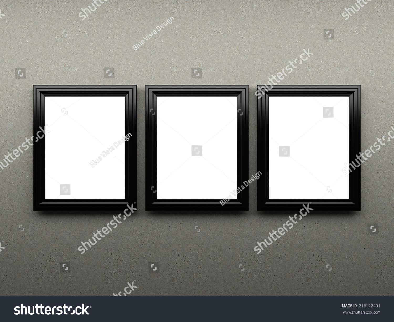 blank photo frames on the table | EZ Canvas