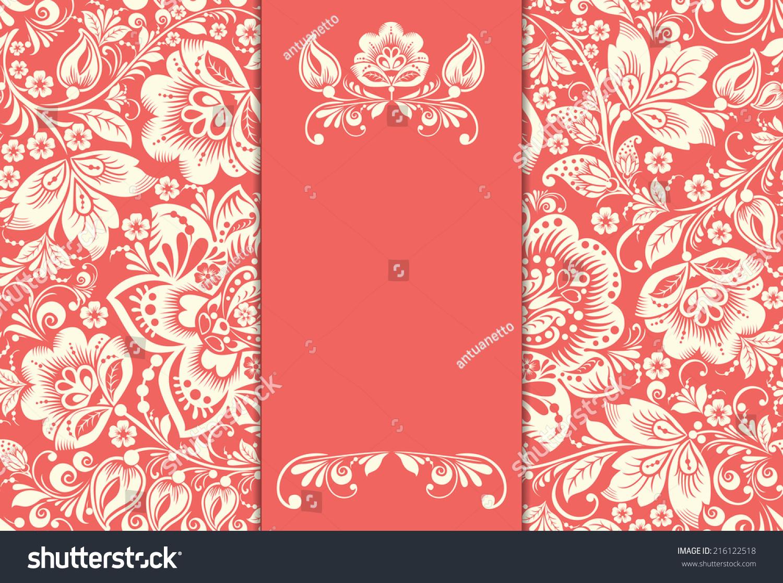 Vector Wedding Invitation Cards Floral Elements Stock Vector ...