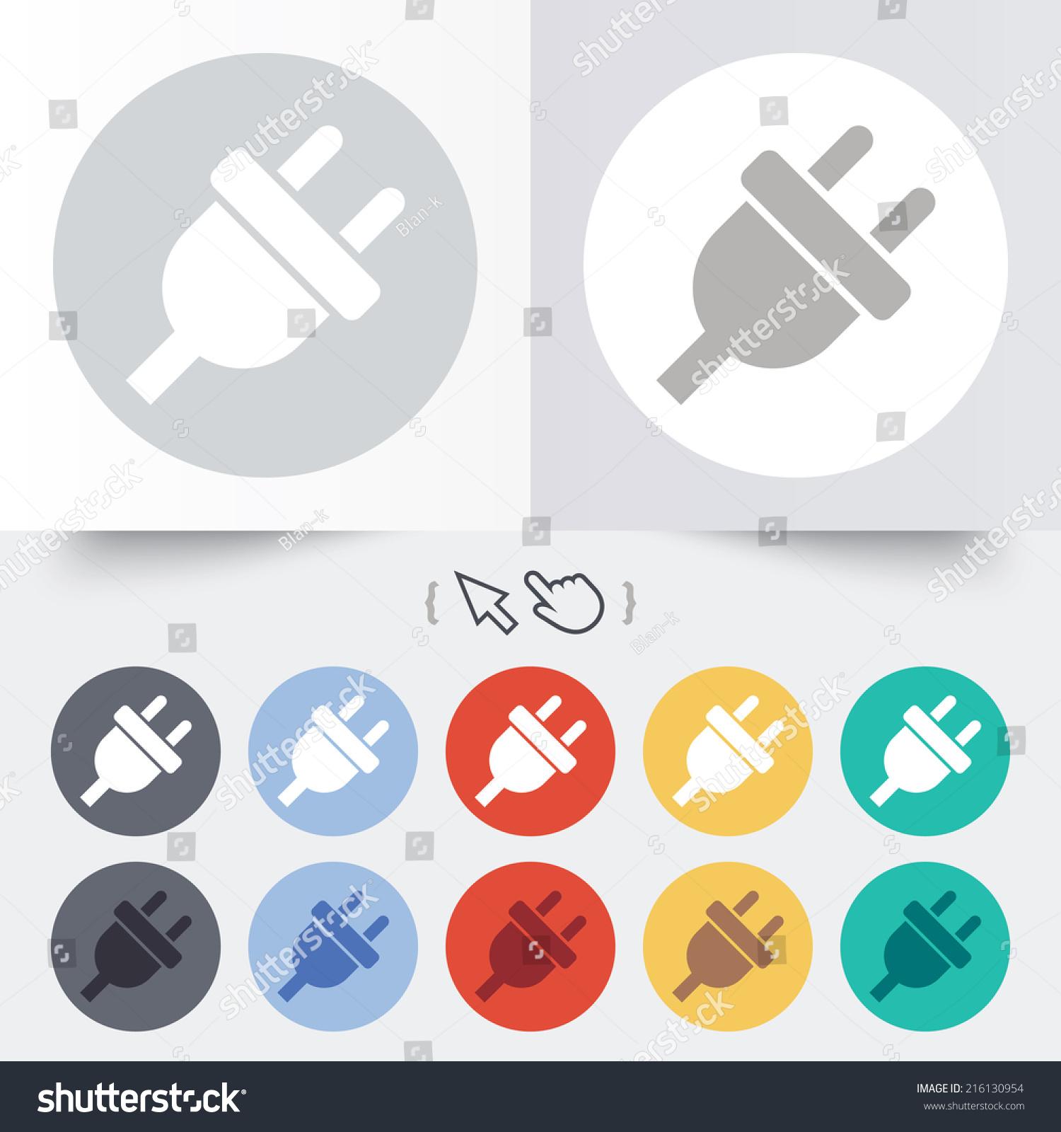 Plug Power Stock Quote: Electric Plug Sign Icon Power Energy Stock Illustration