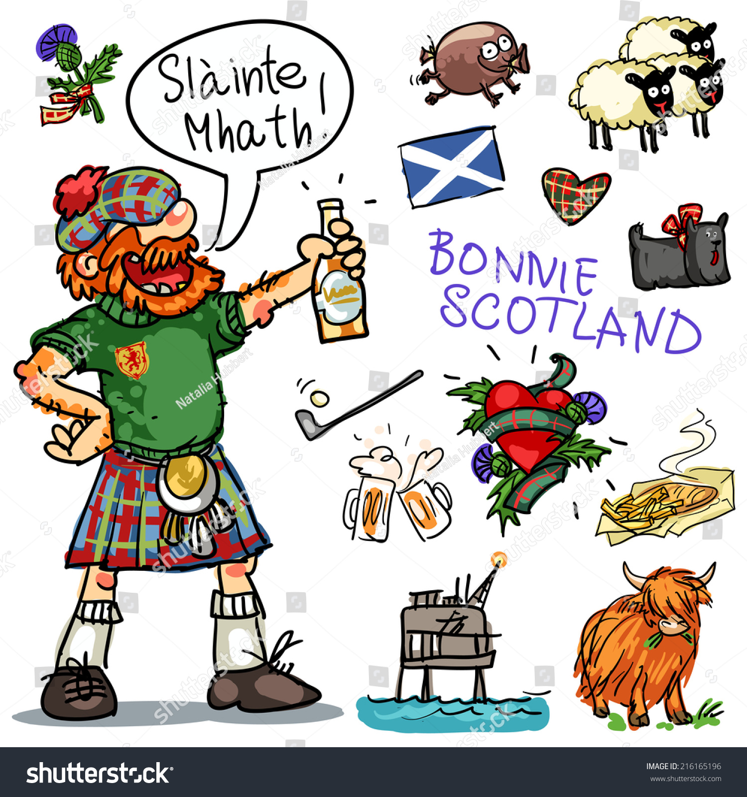 Royalty Free Bonnie Scotland Cartoon Collection