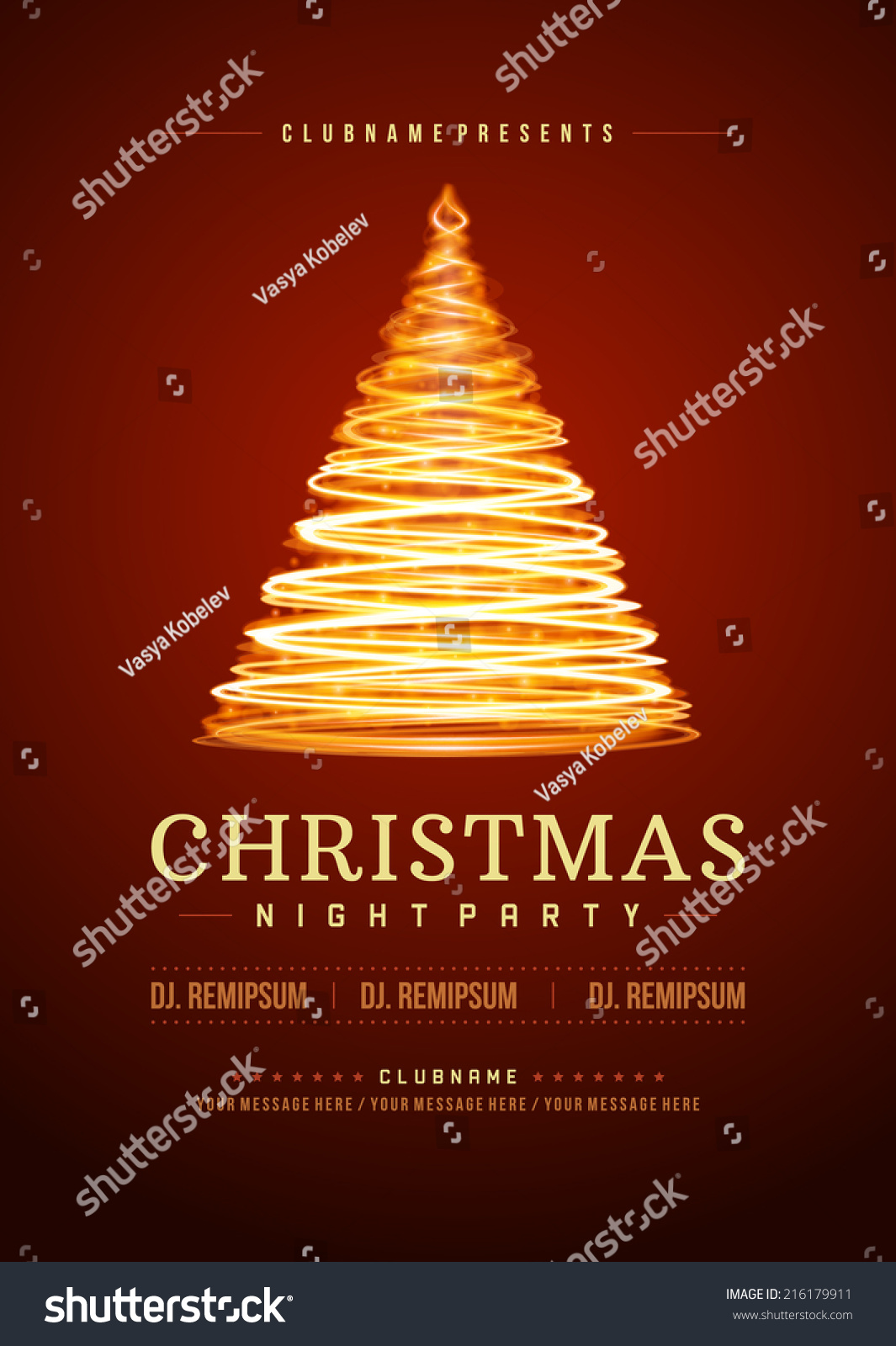 christmas party invitation retro typography or nt stock vector christmas party invitation retro typography and or nt decoration christmas holidays flyer or poster design