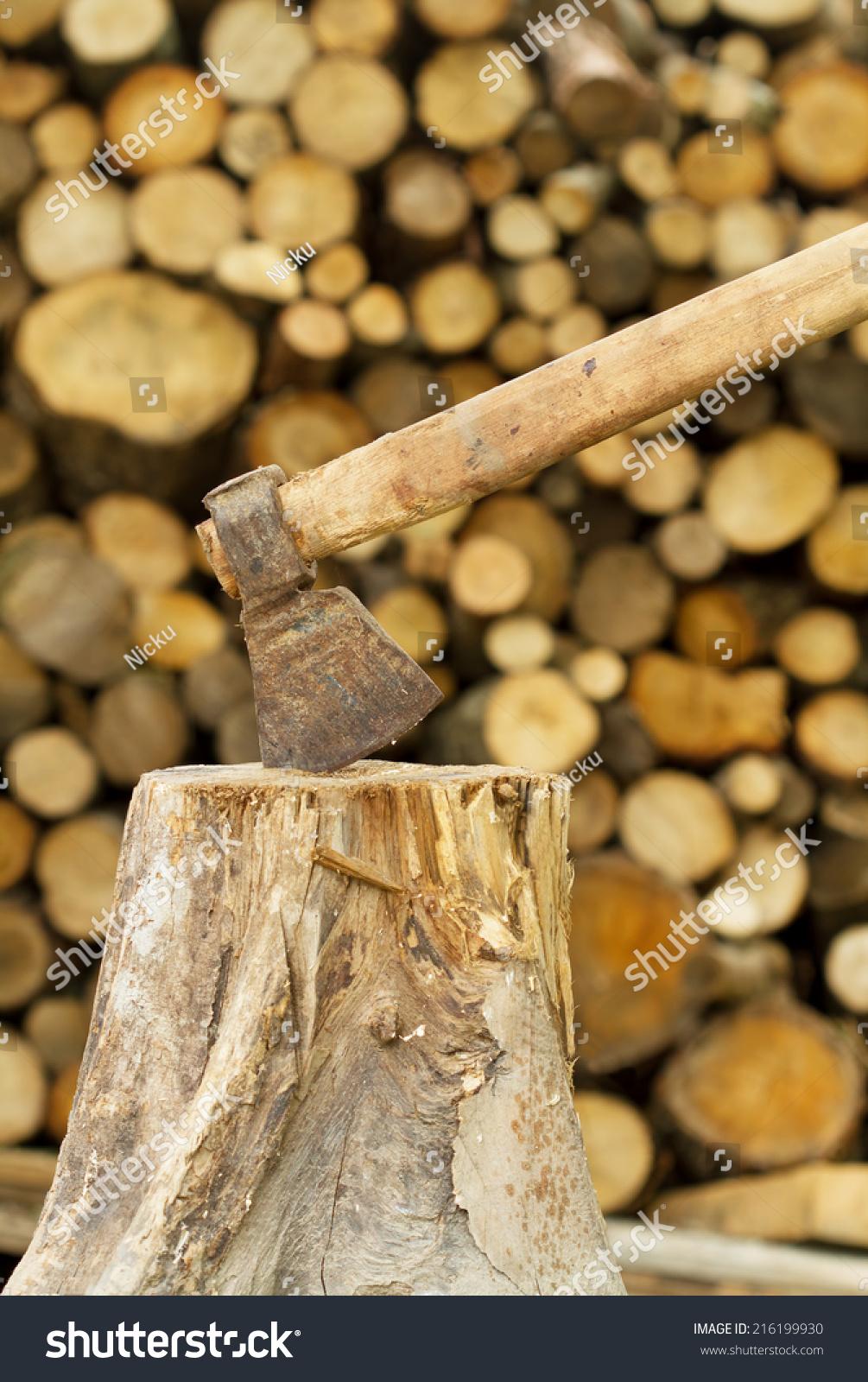 Firewood axe stock photo shutterstock