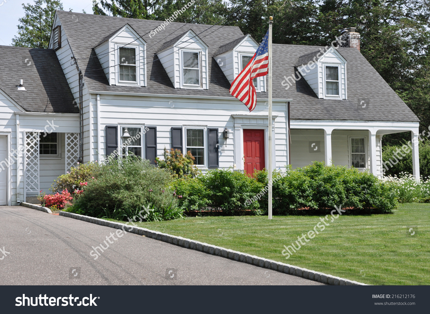 akdnhk the in flag american stock shape photo arranged an of garden flowers
