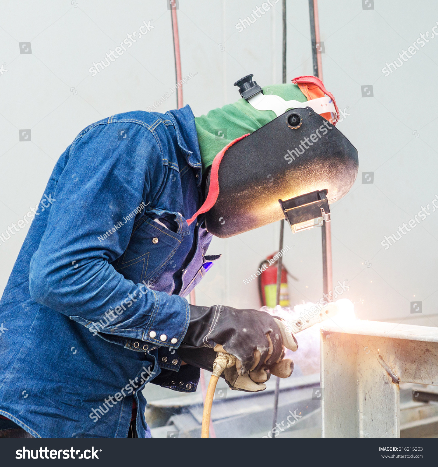 Stock Photo Welder Man