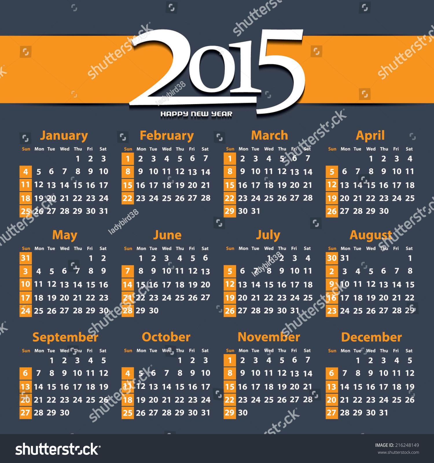 Vertical Calendar Design : Calendar design