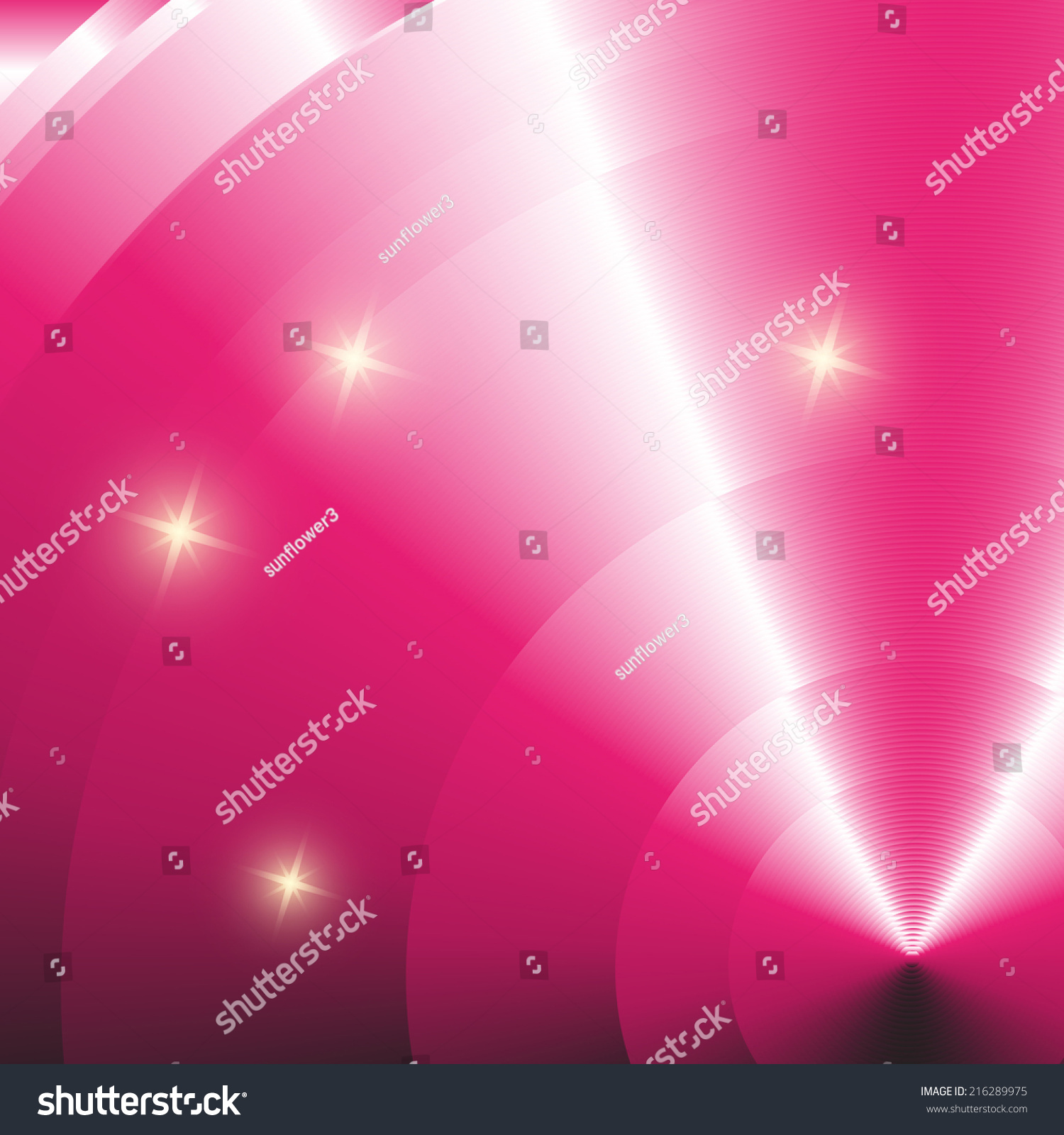 Abstract Star Pink Vector Light Effect Stock Vector