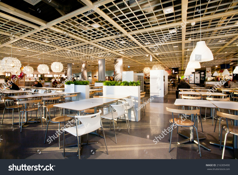 Katowice poland aug 4 interior dining stock photo for Ikea restaurant discount