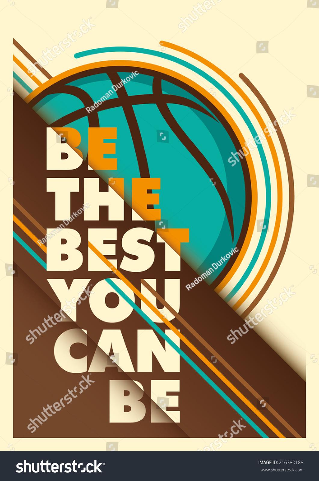 Basketball Advertising Poster Design. Vector Illustration ...
