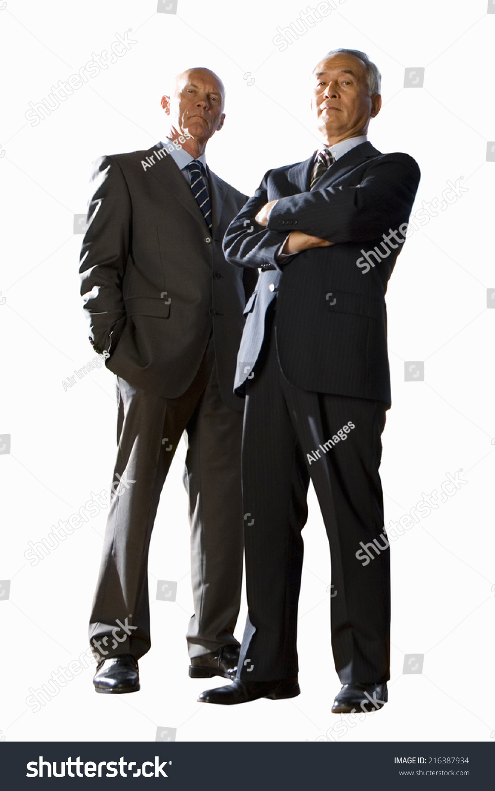 Two Businessmen Portrait Low Angle View Stock Photo (Edit Now) 216387934
