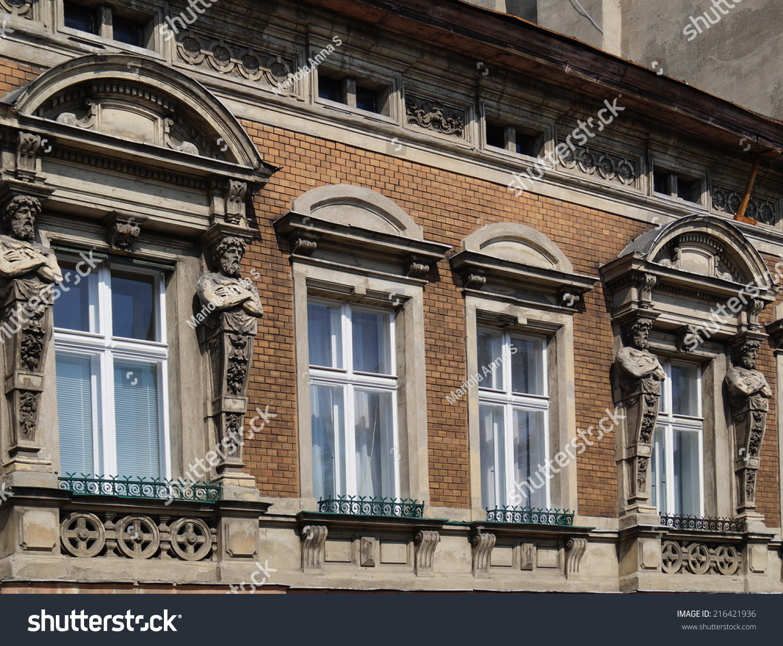 Decorative Window Old House Lodz Poland Stock Photo 216421936 Shutterstock