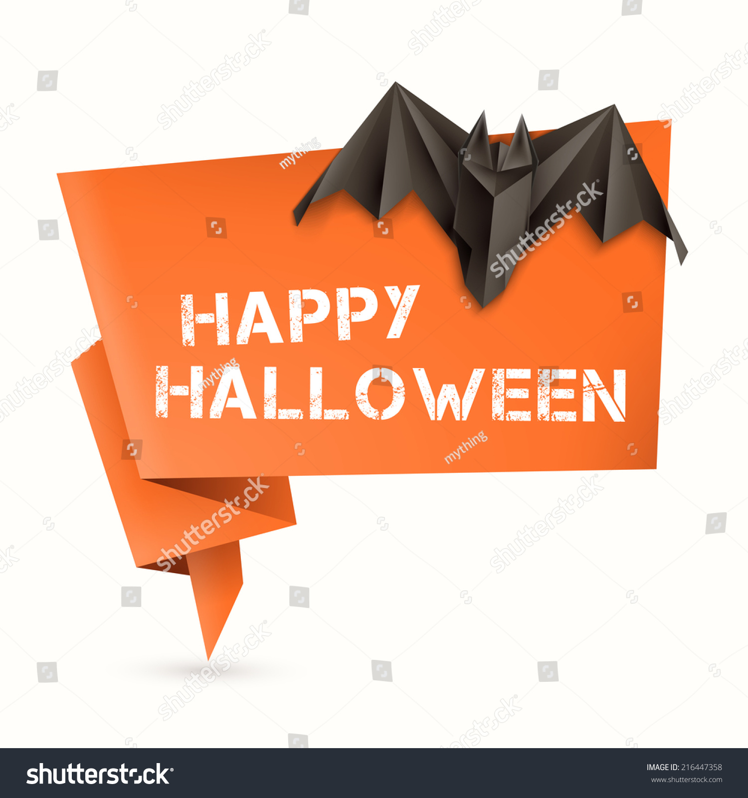 Halloween origami speech bubble origami bat stock vector 216447358 halloween origami speech bubble with origami bat vector illustration eps10 jeuxipadfo Gallery