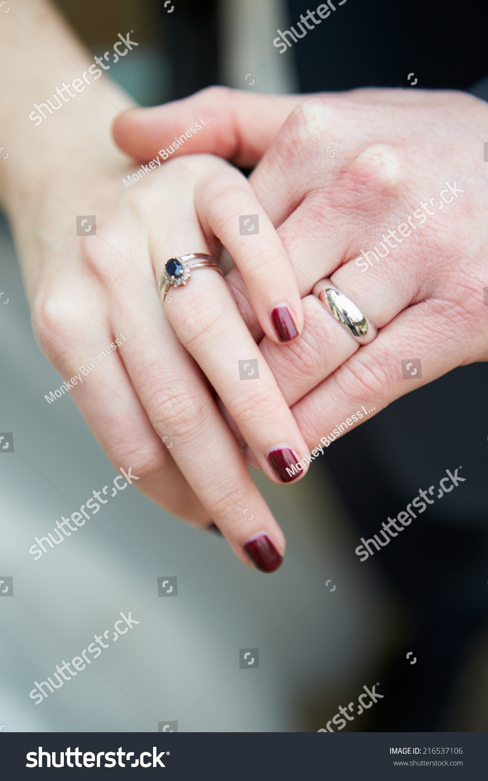 Close Bride Groom Wearing Wedding Rings Stock Photo (Edit Now ...