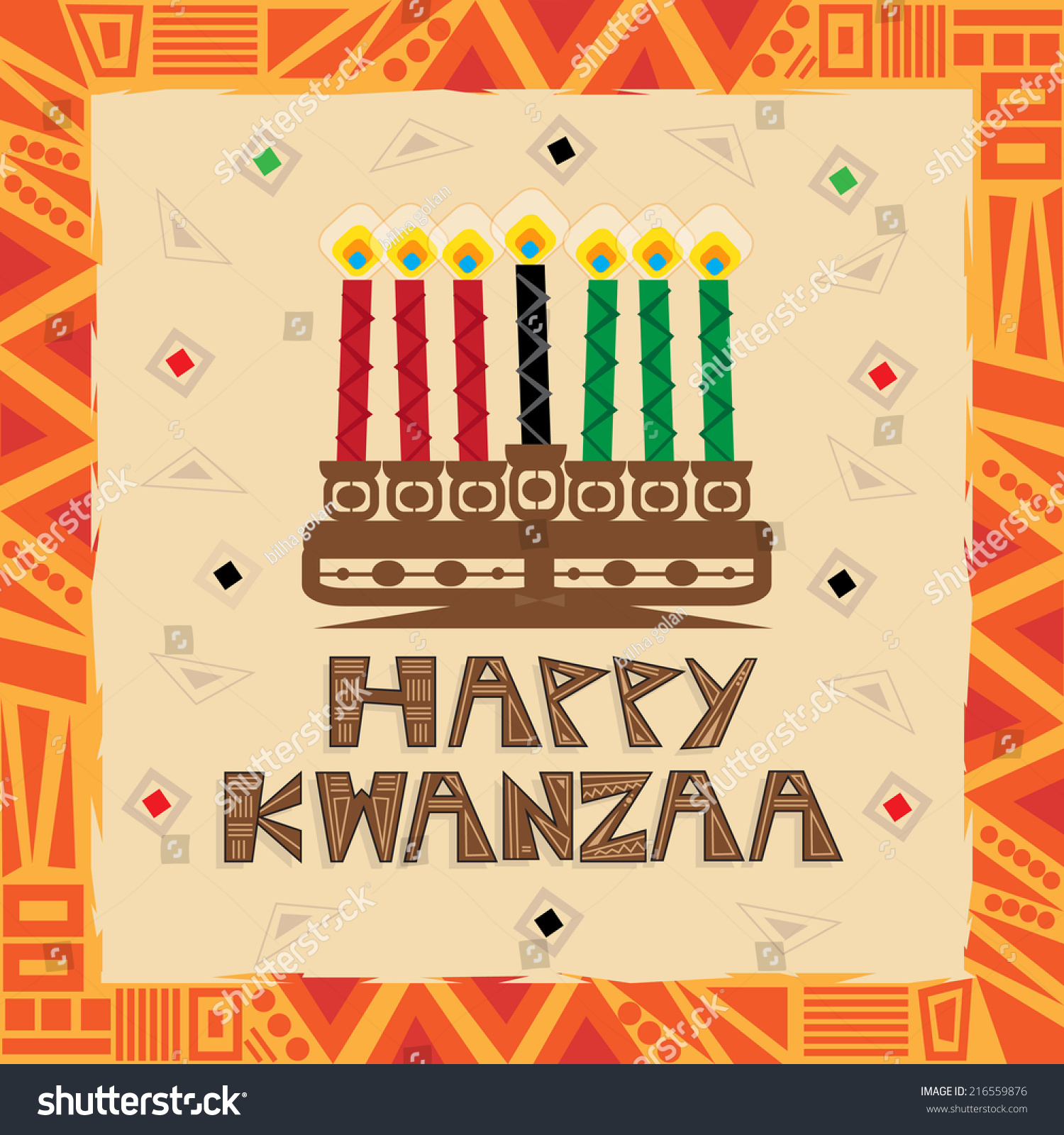 Happy kwanzaa happy kwanzaa decorative greeting stock vector happy kwanzaa happy kwanzaa decorative greeting card eps10 m4hsunfo