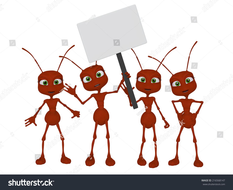 Teamwork Ants 3d Cartoon Stock Illustration 216568147 ... - photo#7