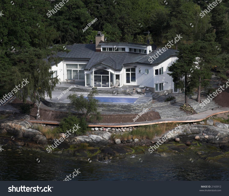 Sweden Luxury Homes: Luxury Home Stockholm Bay Stock Photo 2165912 : Shutterstock