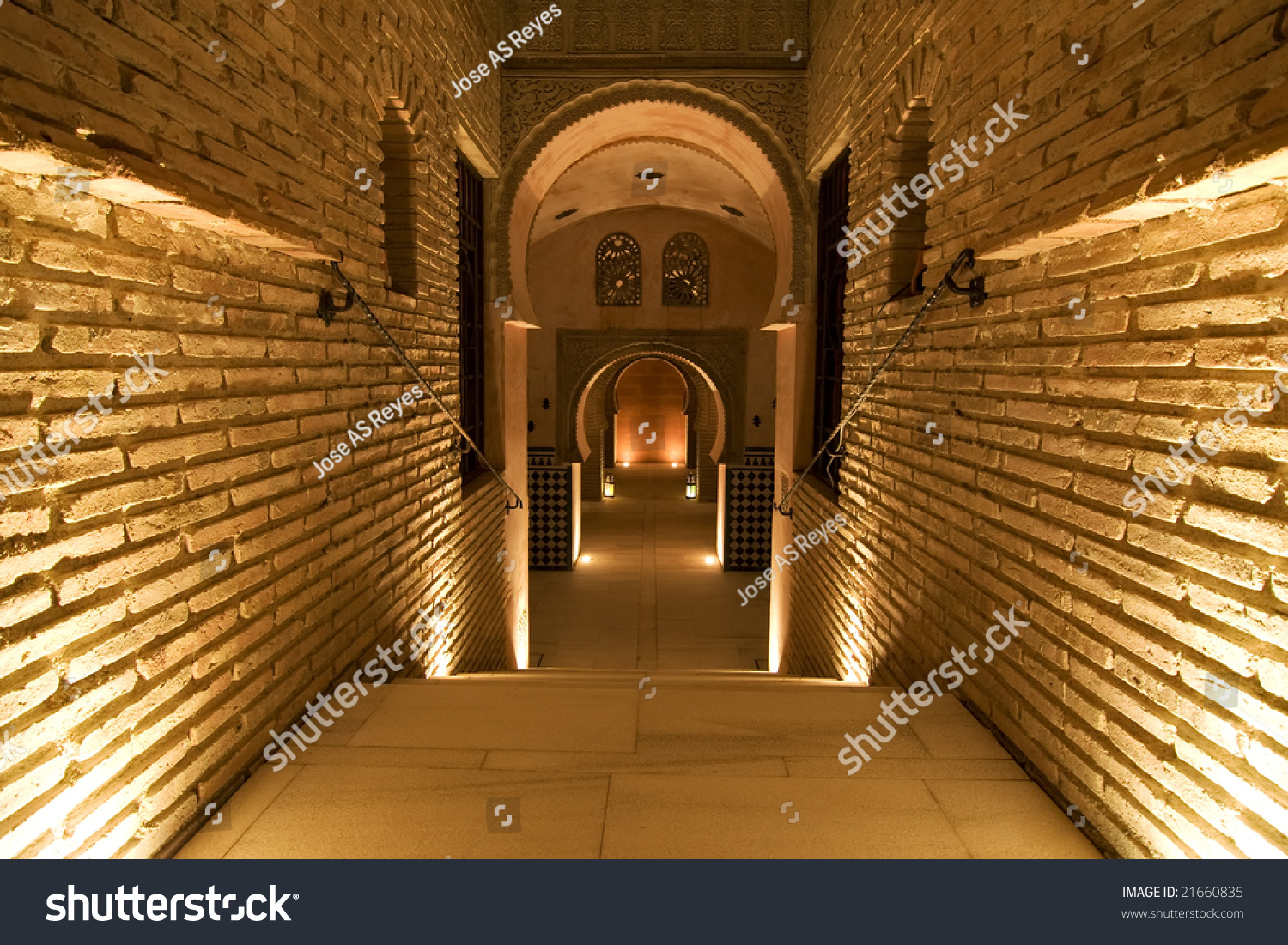 Stock Interiors Com >> Ancient Palace Interior Arab Style Stock Photo 21660835 - Shutterstock