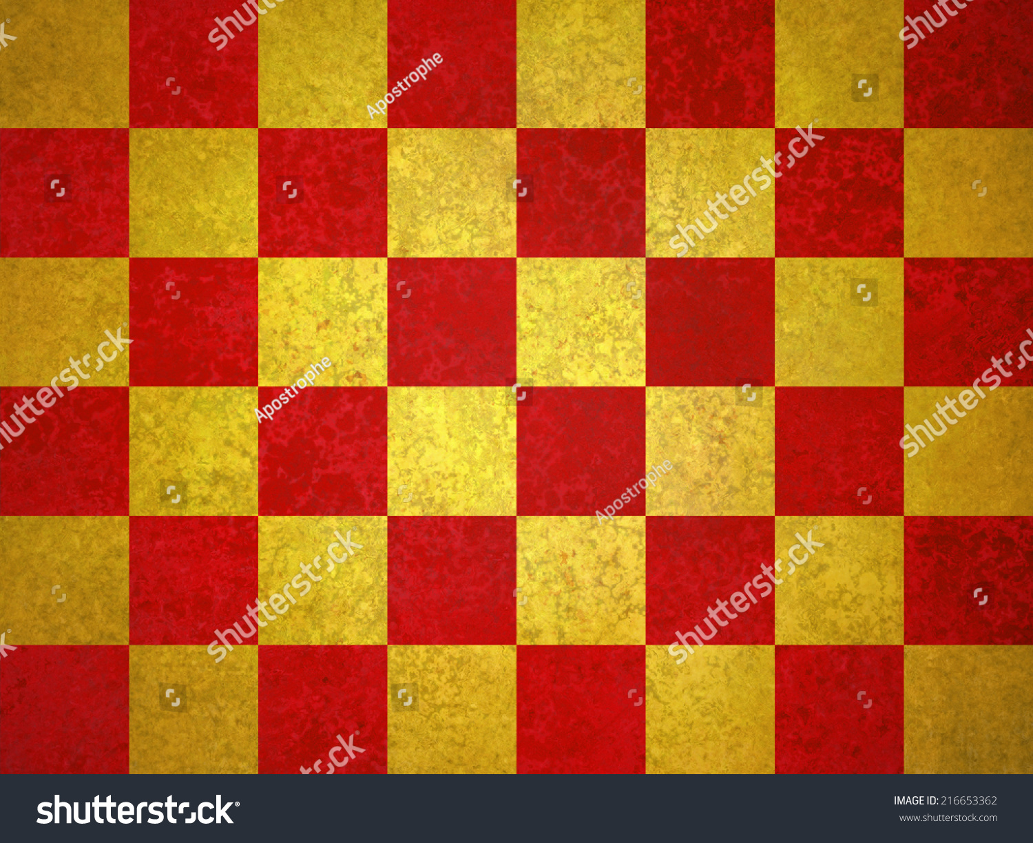 Vintage Gold Red Checkerboard Pattern Background Stock Illustration ...
