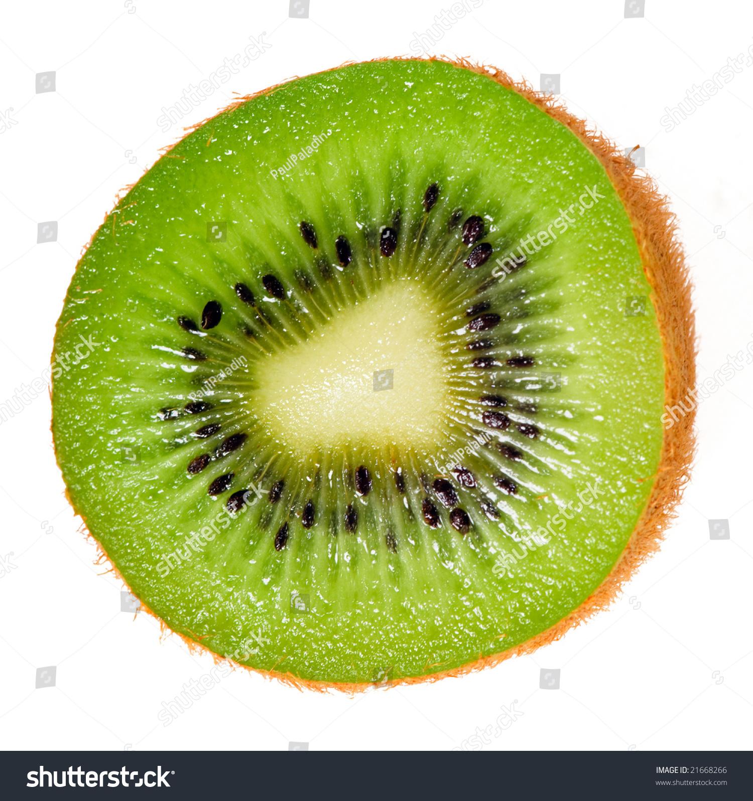 Close Up Of Kiwi Slice...