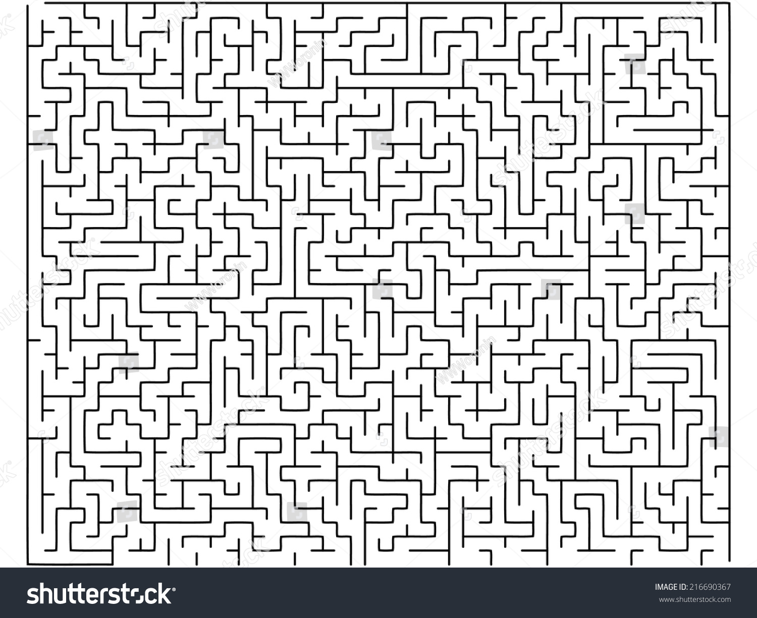 Vector labyrinth background, maze illustration isolated over white ...