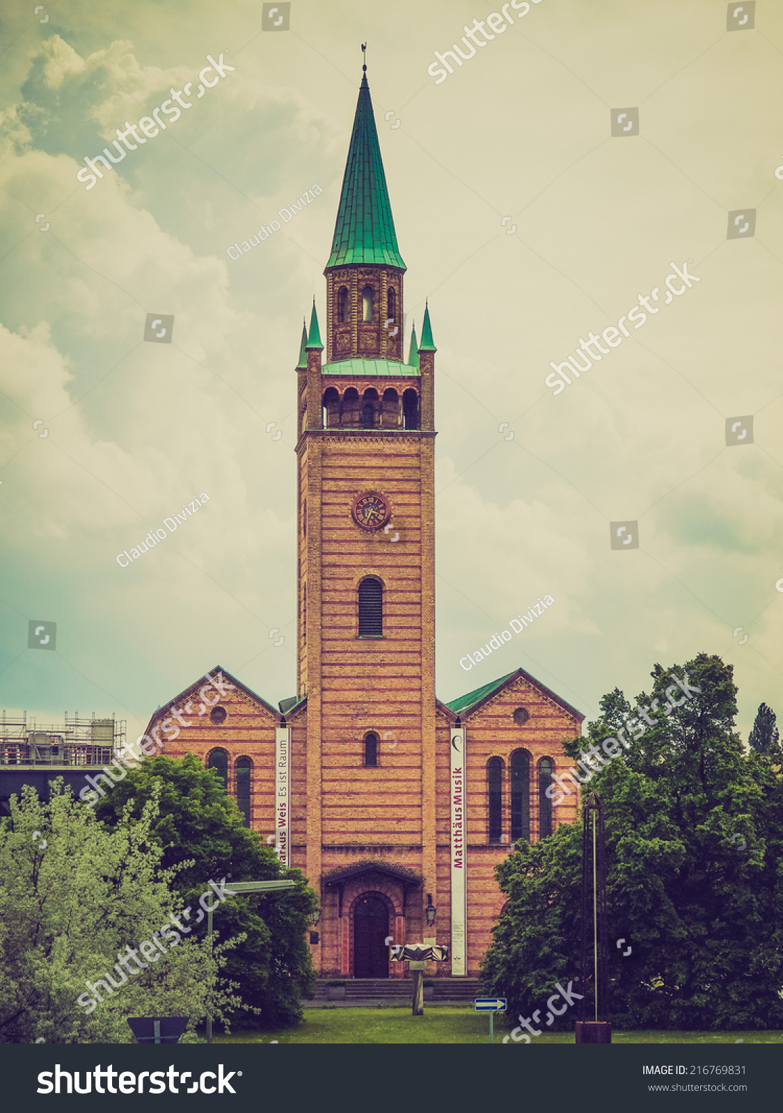 vintage looking mattaus kirche gothic church stock photo 216769831 shutterstock. Black Bedroom Furniture Sets. Home Design Ideas