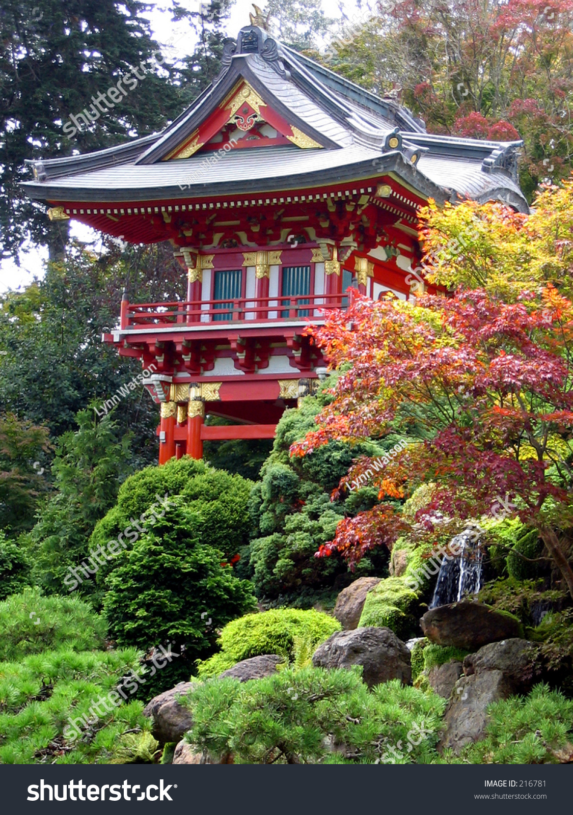 Pagoda In Japanese Tea Garden San Francisco Golden Gate Park Stock Photo 216781 Shutterstock