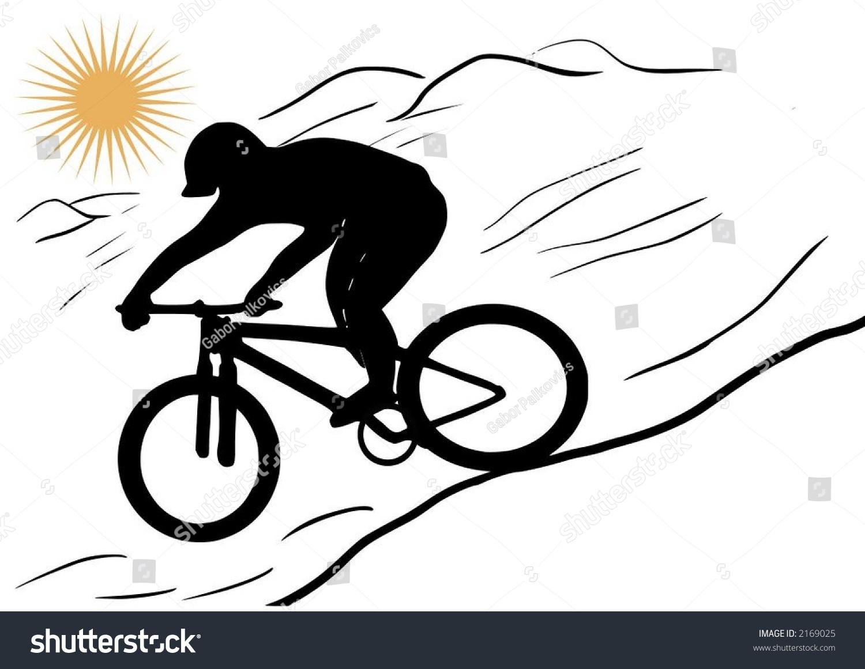 clipart mountain bike rider - photo #23