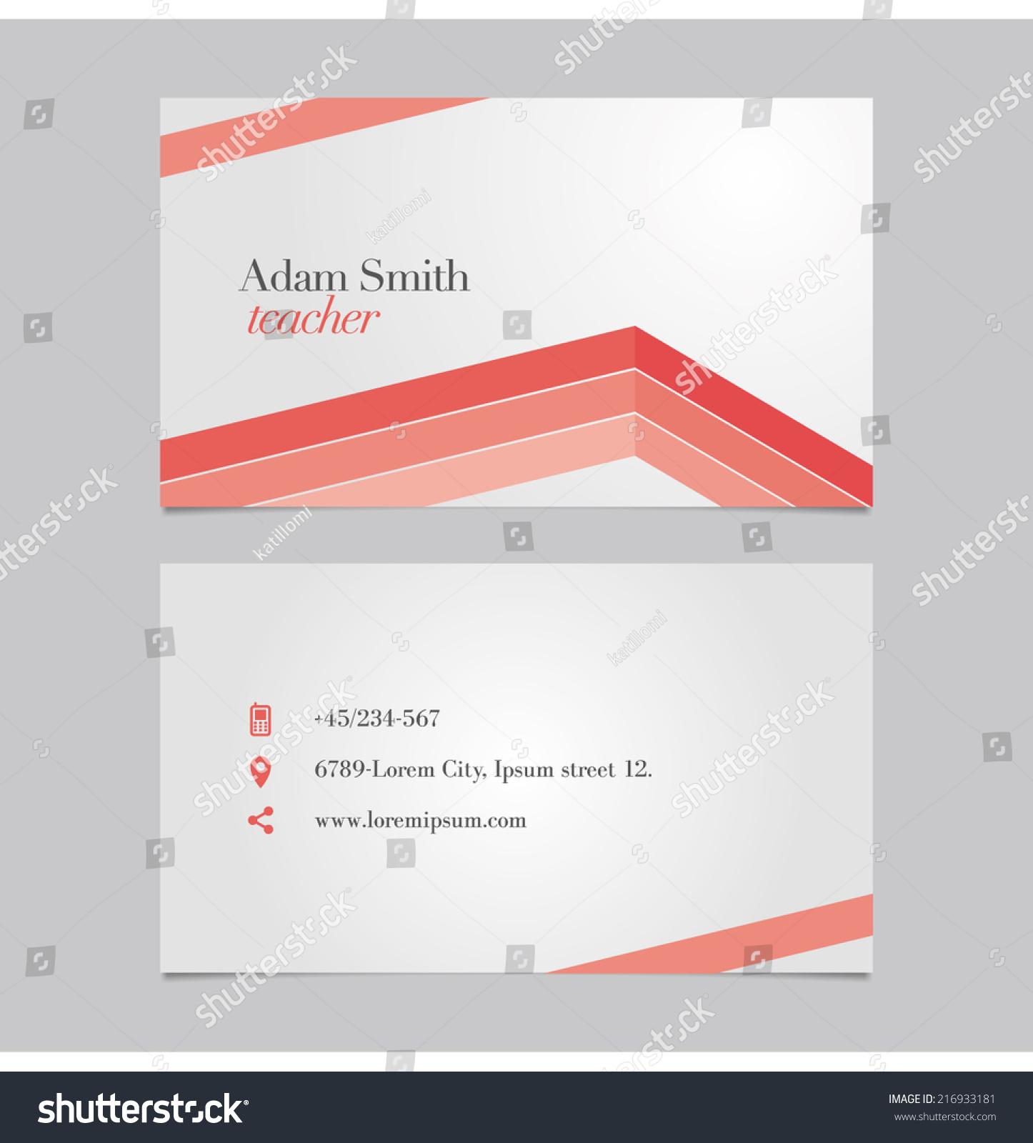 Vector Graphic Elegant Business Card Design Stock Vector 216933181 ...