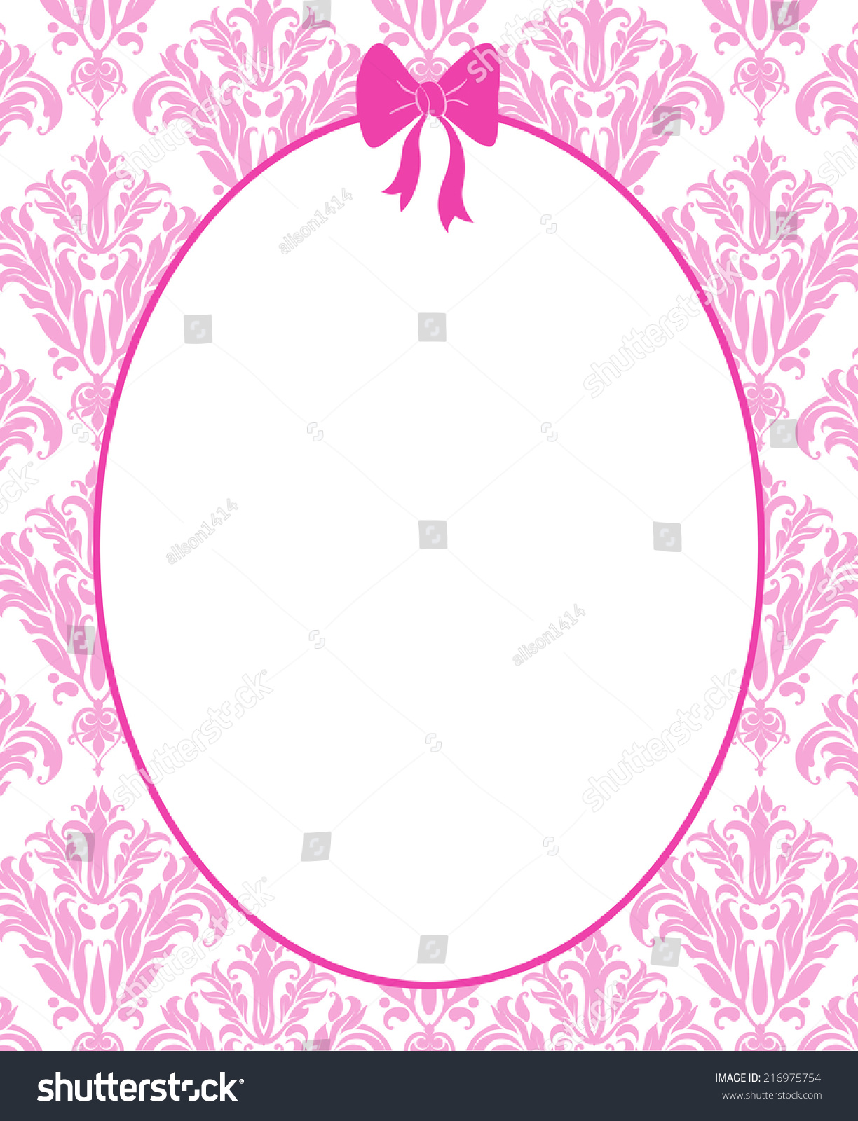 Cute Pink Frame Mirror Hot Pink Stock Illustration 216975754 ...