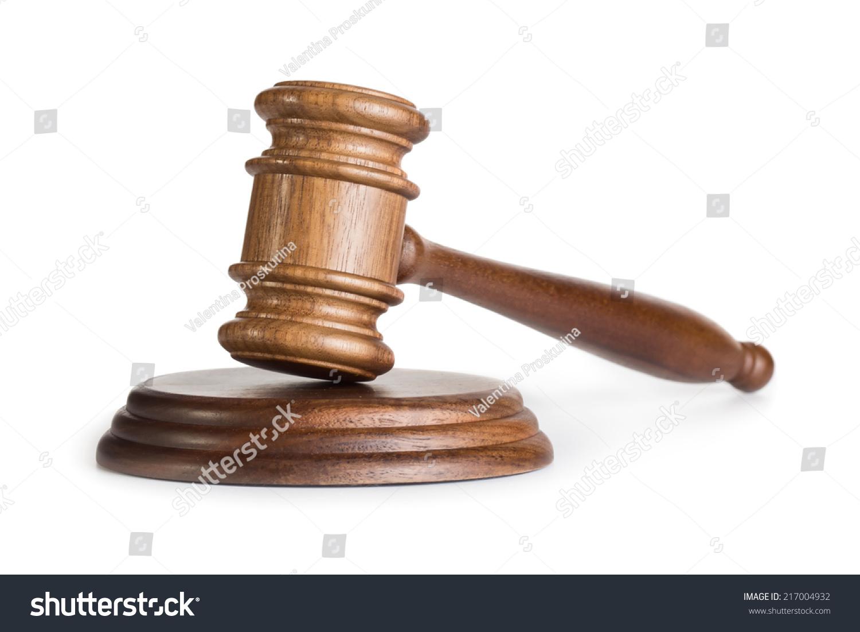 Judge Gavel Isolated On White Background Stock Photo ...
