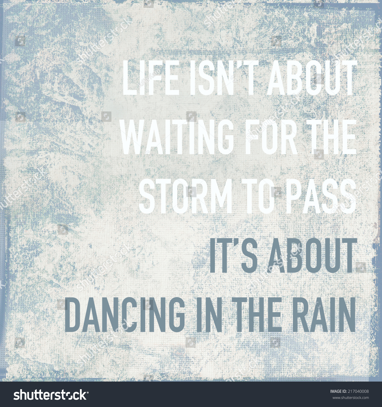 Motivational Poster Quote Life About Dancing Stock